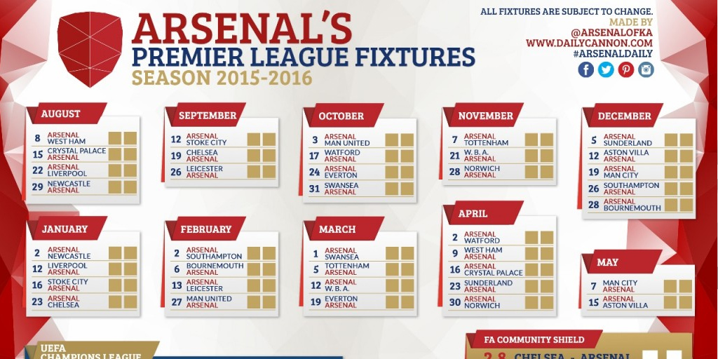 arsenal 201516 fixture wallpapers and printable wallchart