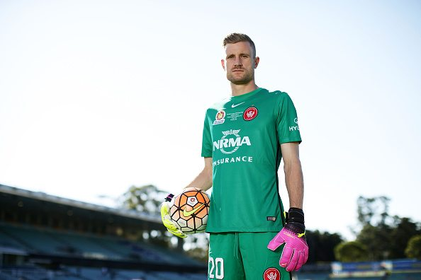 SYDNEY, AUSTRALIA - APRIL 28: Wanderers goalkeeper Andrew Redmayne poses during a Western Sydney Wanderers A-League media session at Pirtek Stadium on April 28, 2016 in Sydney, Australia. (Photo by Matt King/Getty Images)