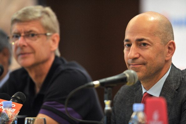 Arsene Wenger and Ivan Gazidis of Arsenal