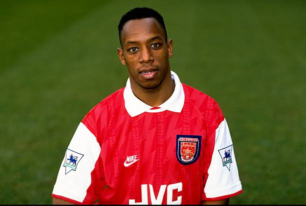 4 Feb 1994: Portrait of Ian Wright of Arsenal wearing the new strip during a photo-call held at Highbury in London, England. Mandatory Credit: Ben Radford/Allsport