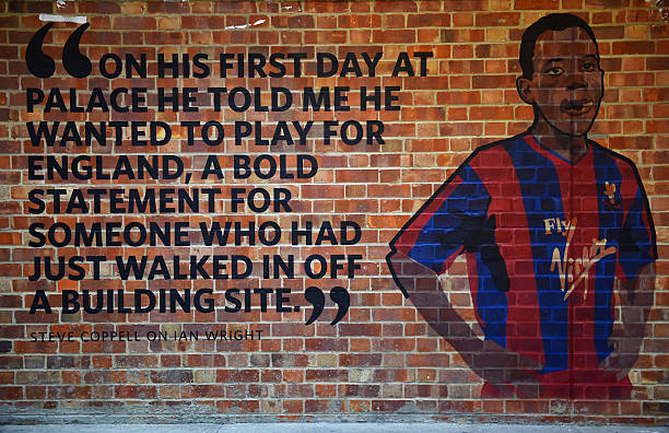 LONDON, ENGLAND - OCTOBER 18: A mural depicting a quote from ex-Crystal Palace manager Steve Coppell about striker Ian Wright is seen prior to the Barclays Premier League match between Crystal Palace and Chelsea at Selhurst Park on October 18, 2014 in London, England. (Photo by Paul Gilham/Getty Images)