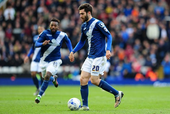 BIRMINGHAM, UNITED KINGDOM - APRIL 16: Jon Toral of Birmingham City during the Sky Bet Championship match between Birmingham City and Burnley at St Andrews Stadium on April 16, 2016 in Birmingham, England. (Photo by Harry Trump/Getty Images)