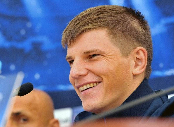 Zenit Saint-Petersburg football team's player Andrey Arshavin attends a press-conference in Saint-Petersburg on September 30, 2013, on the eve of the UEFA Champions League group G match Zenit Saint-Petersburg against Austria Vienna. AFP PHOTO / OLGA MALTSEVA (Photo credit should read OLGA MALTSEVA/AFP/Getty Images)