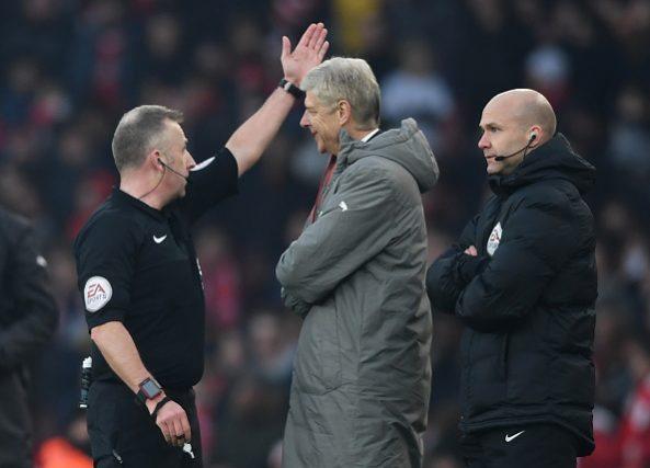Arsene Wenger sent off
