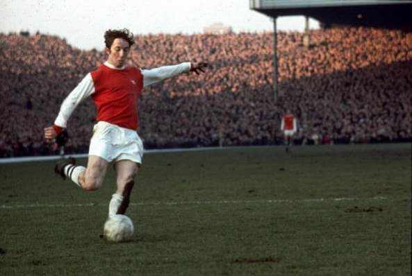 circa 1970: George Armstrong (1944 - 2000) in action for Arsenal Football Club (Photo by Express/Express/Getty Images)