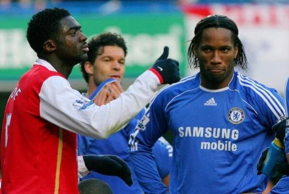 Kolo Toure and Didier Drogba