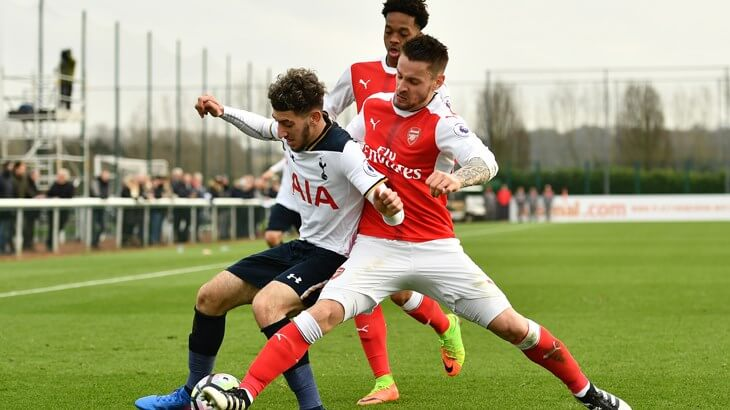 Debuchy in action against Tottenham u23s