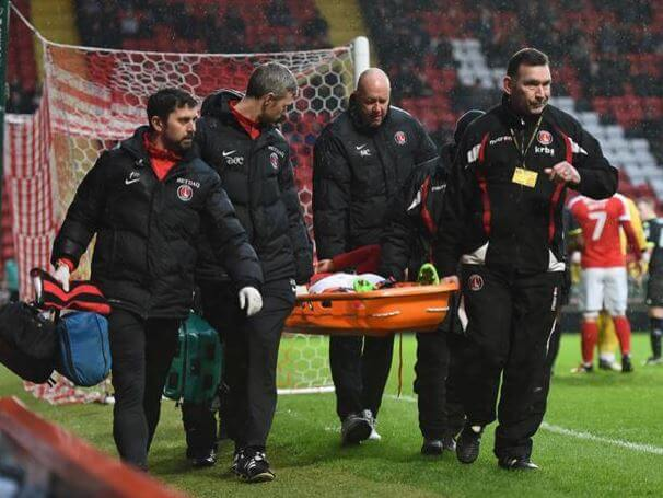 Mavididi was stretchered off during Charlton's defeat against Bury, and is sidelined for the remainder of this campaign
