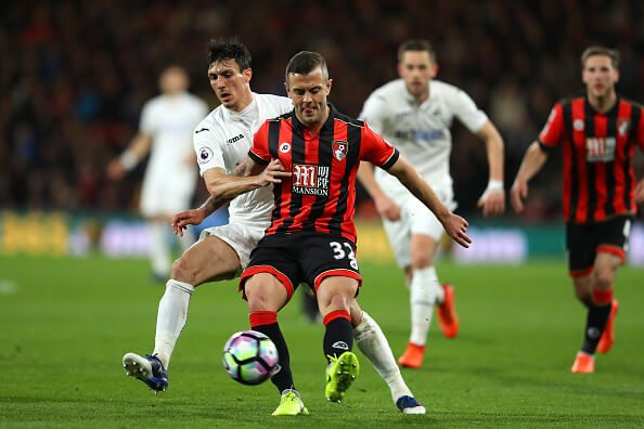 Wilshere in action against Swansea