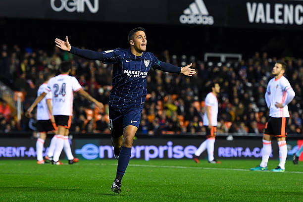 VALENCIA, SPAIN - DECEMBER 04: Pablo Fornals of Malaga CF celebrates after scoring his team's first goal during the La Liga match between Valencia CF and Malaga CF at Mestalla stadium on December 4, 2016 in Valencia, Spain. (Photo by David Ramos/Getty Images)