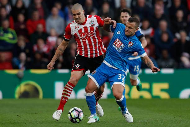 Wilshere in action against Southampton