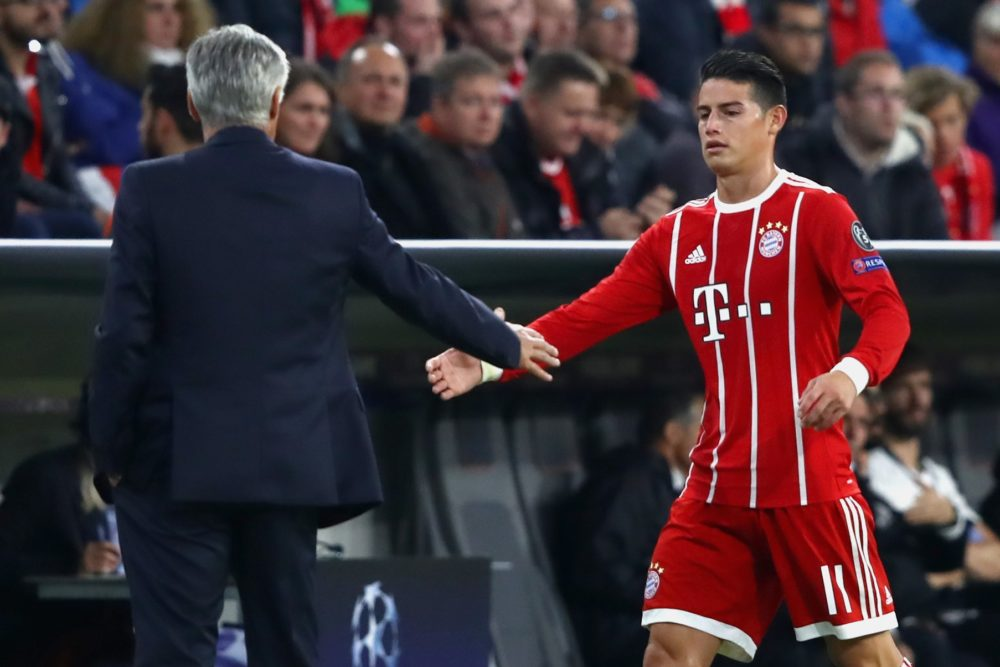James Rodriguez Must Really Like Carlo Ancelotti Daily Cannon