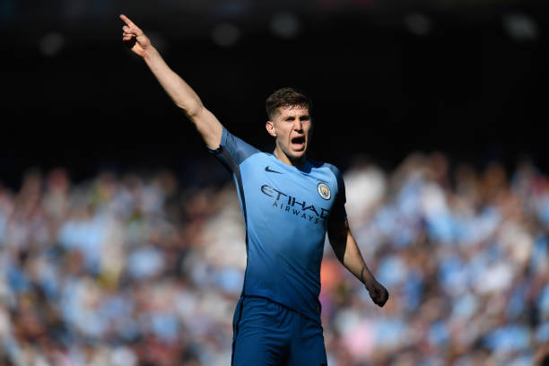 MANCHESTER, ENGLAND - APRIL 08: Manchester City player John Stones in action during the Premier League match between Manchester City and Hull City at Etihad Stadium on April 8, 2017 in Manchester, England. (Photo by Stu Forster/Getty Images)