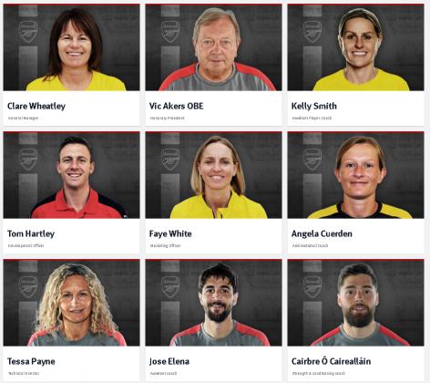Arsenal Ladies squad staff