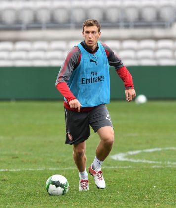 SYDNEY, AUSTRALIA - JULY 12: Krystain Bielik during the Arsenal Training Session at at Koragah Oval on July 12, 2017 in Sydney, Australia. (Photo by David Price/Arsenal FC via Getty Images)