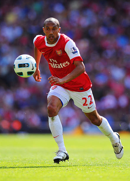 Gael Clichy of Arsenal in action.