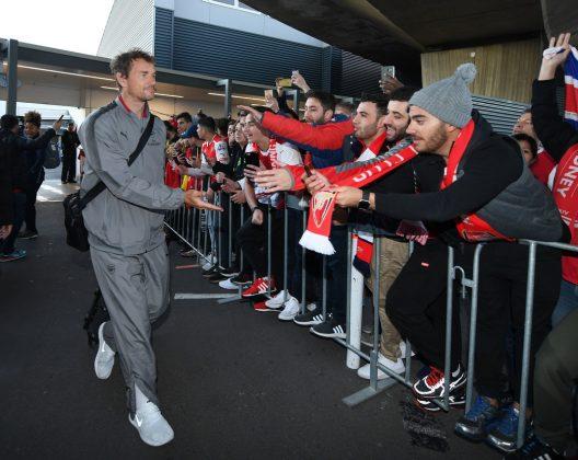 Jens Lehmann greets fans