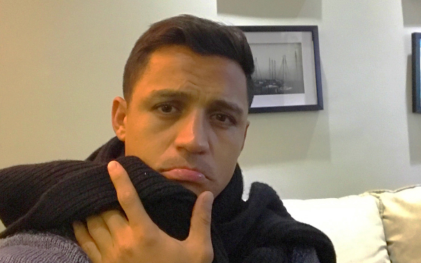 Alexis sick. Picture: Telegraph