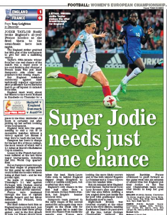 daily express 170731 jodie taylor
