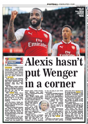 daily express 170731 wenger alexis contract