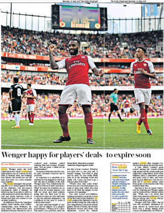 teegraph 170731 wenger on contracts