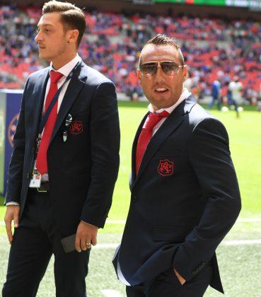 Cazorla in sunglasses