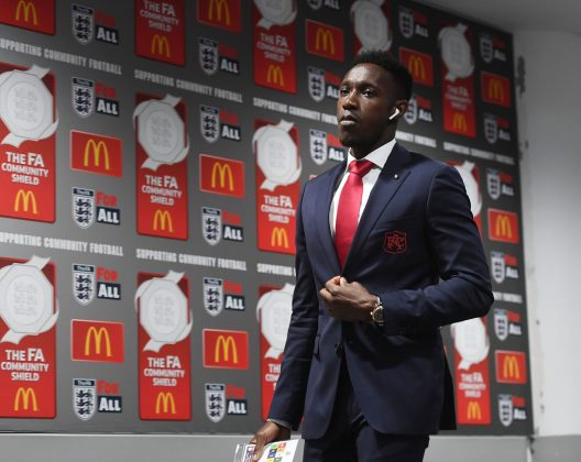 LONDON, ENGLAND - AUGUST 06: Arsenal's Danny Welbeck walks to the changing room before the FA Community Shield match between Chelsea and Arsenal at Wembley Stadium on August 6, 2017 in London, England. (Photo by Stuart MacFarlane/Arsenal FC via Getty Images)