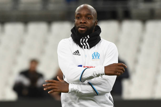 Olympique de Marseille's French midfielder Lassana Diarra warms up prior to the French Ligue 1 football match between Olympique de Marseille (OM) and Guingamp at the Velodrome stadium in Marseille on February 8, 2017. (BORIS HORVAT/AFP/Getty Images)