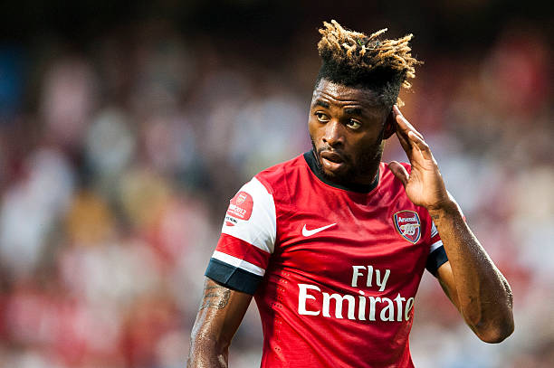 SO KON PO, HONG KONG - JULY 29: Alex Song of Arsenal FC reacts during the pre-season Asian Tour friendly match between Kitchee FC and Arsenal at Hong Kong Stadium on July 29, 2012 in Hong Kong. (Photo by Victor Fraile/Getty Images)