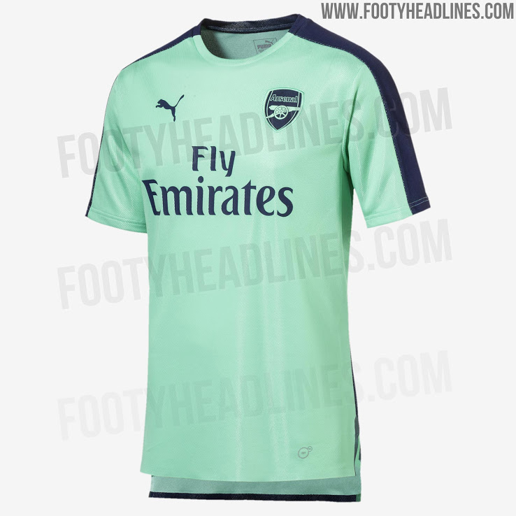 reputable site 4acd9 4316f Arsenal's 3rd kit training gear leaked to complete the set ...