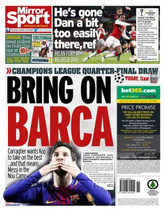 16 march 2018 daily mirror backpage