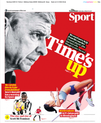 Guardian Sport Wenger Times up 3 march 2018