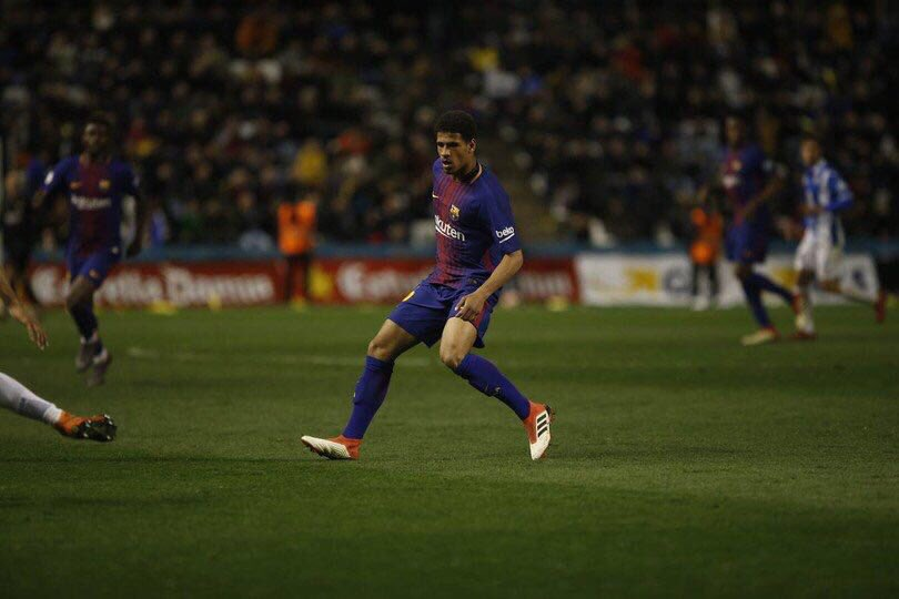 Marcus McGuane during his Barcelona first team debut. (via Twitter)
