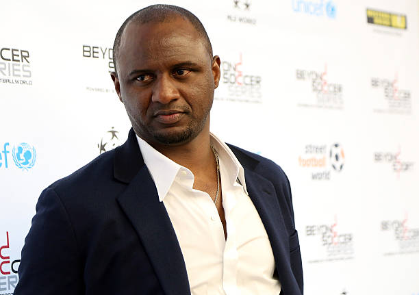 NEW YORK, NY - JUNE 22: Former professional football player and Western Union Pass Ambassador, Patrick Vieira, attends the Beyond Soccer Series Powered By streetfootballworld at Thomson Reuters Building on June 22, 2015 in New York City. (Photo by Monica Schipper/Getty Images for Beyond Soccer Series)