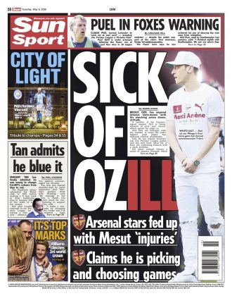 8 may 2018 sun backpage ozil