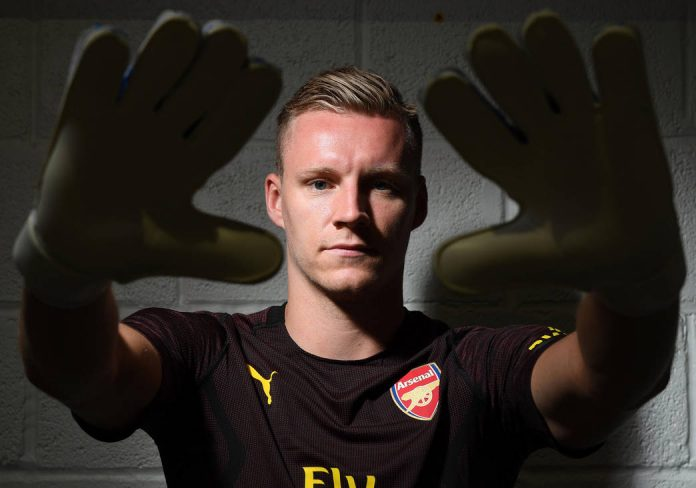 ST ALBANS, ENGLAND - JUNE 19: Arsenal unveil new signing Bernd Leno at London Colney on June 19, 2018 in St Albans, England. (Photo by Stuart MacFarlane/Arsenal FC via Getty Images) *** Local Caption *** Bernd Leno; goalkeeper