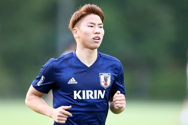 NARASHINO, JAPAN - MAY 21: Takuma Asano of Japan in action during a Japan training session at Akitsu Football Field on May 21, 2018 in Narashino, Chiba, Japan. (Photo by Koji Watanabe/Getty Images)