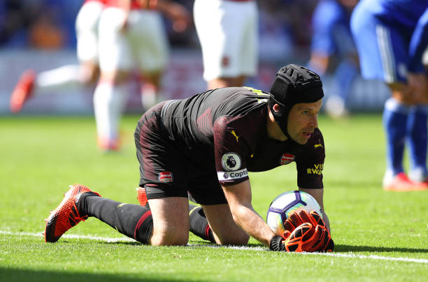 CARDIFF, WALES - SEPTEMBER 02: Petr Cech of Arsenal during the Premier League match between Cardiff City and Arsenal FC at Cardiff City Stadium on September 2, 2018 in Cardiff, United Kingdom. (Photo by Catherine Ivill/Getty Images)