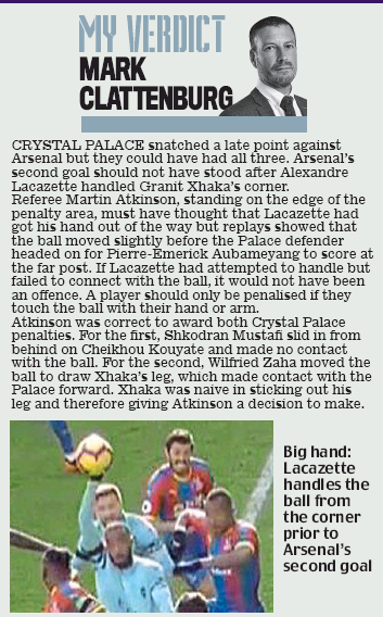 Mark Clattenburg in the Daily Mail, 29 October 2018