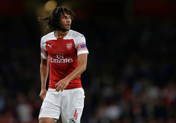LONDON, ENGLAND - SEPTEMBER 20: Mohamed Elneny of Arsenal during the UEFA Europa League Group E match between Arsenal and Vorskla Poltava at Emirates Stadium on September 20, 2018 in London, United Kingdom. (Photo by Henry Browne/Getty Images)