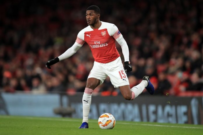 LONDON, ENGLAND - DECEMBER 13: Ainsley Maitland-Niles of Arsenal during the UEFA Europa League Group E match between Arsenal and Qarabag FK at Emirates Stadium on December 13, 2018 in London, United Kingdom. (Photo by Marc Atkins/Getty Images)