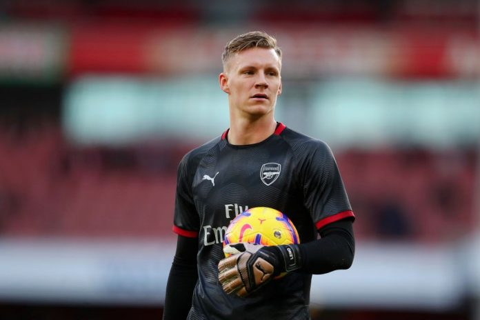 LONDON, ENGLAND - JANUARY 01: Bernd Leno of Arsenal looks on during his warm up prior to the Premier League match between Arsenal FC and Fulham FC at Emirates Stadium on January 1, 2019 in London, United Kingdom. (Photo by Catherine Ivill/Getty Images)
