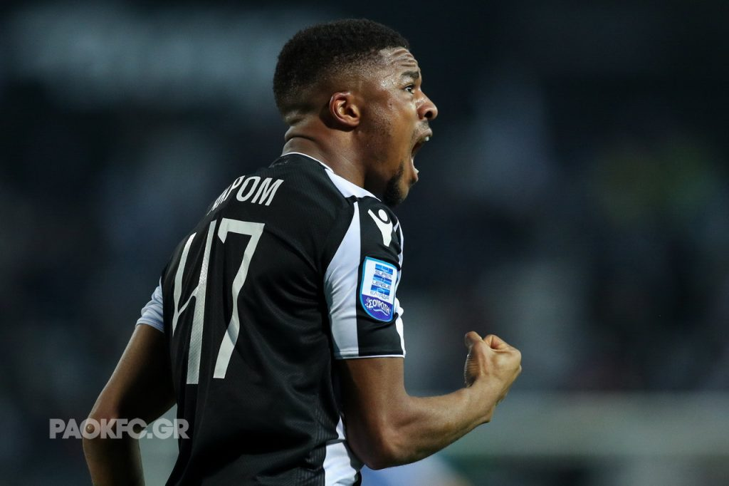 Chuba Akpom during PAOK's 4-0 win over OFI Crete on Sunday 27th January 2019, via PAOKFC.gr