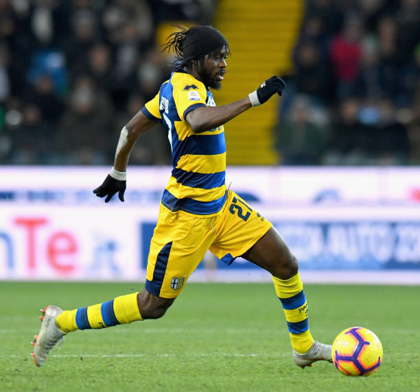 UDINE, ITALY - JANUARY 19: Gervinho of Parma Calcio in action during the Serie A match between Udinese and Parma Calcio at Stadio Friuli on January 19, 2019 in Udine, Italy. (Photo by Alessandro Sabattini/Getty Images)