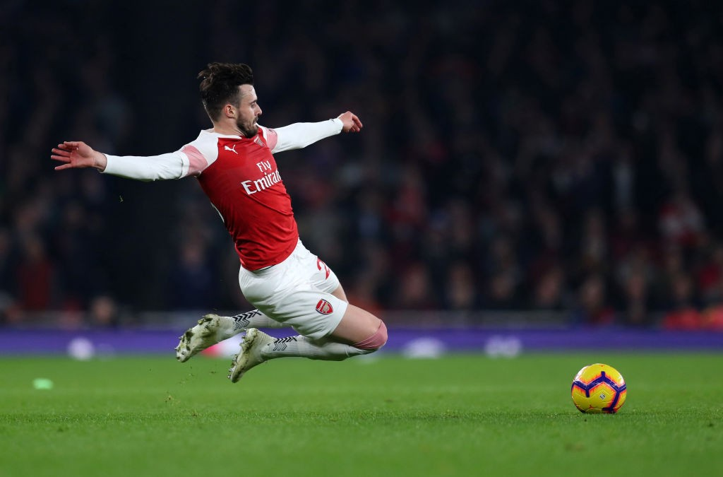 LONDON, ENGLAND - FEBRUARY 27: Carl Jenkinson of Arsenal during the Premier League match between Arsenal FC and AFC Bournemouth at Emirates Stadium on February 27, 2019 in London, United Kingdom. (Photo by Catherine Ivill/Getty Images)
