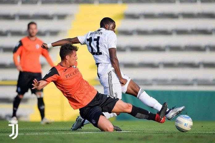 Stephy Mavididi scoring for Juventus u23s against Siena (Photo via Instagram / StephyAlvaro)