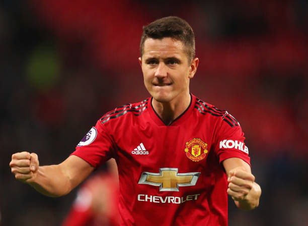 LONDON, ENGLAND - JANUARY 13: Ander Herrera of Manchester United celebrates victory after the Premier League match between Tottenham Hotspur and Manchester United at Wembley Stadium on January 13, 2019 in London, United Kingdom. (Photo by Catherine Ivill/Getty Images)