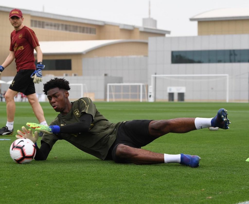 Arthur Okonkwo in first-team training in Dubai (via Instagram / _arthurokonkwo)