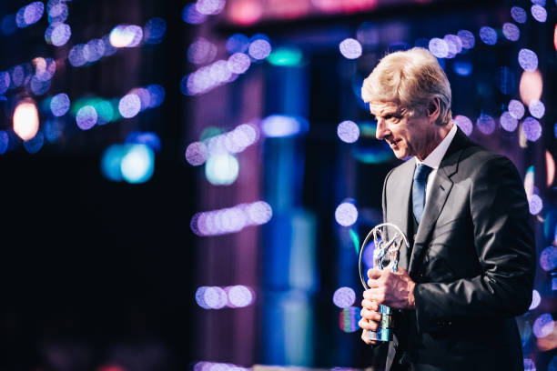 MONACO, MONACO - FEBRUARY 18: Arsene Wenger winner of the Laureus Lifetime Achievement award speaks on stage during the 2019 Laureus World Sports Awards at the Salle des Etoiles, Sporting Monte-Carlo on February 18, 2019 in Monaco, Monaco. (Photo by Simon Hofmann/Getty Images for Laureus)