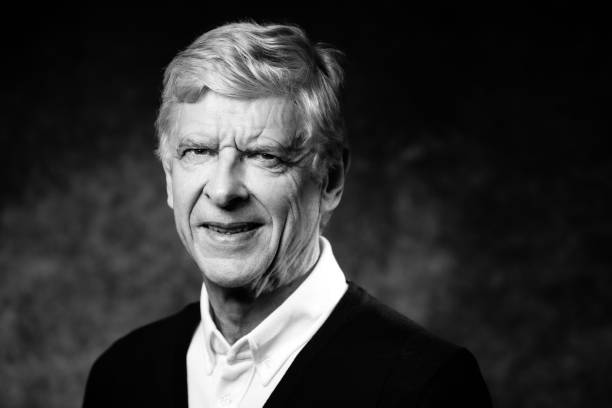 Former Arsenal manager Arsene Wenger of France poses during a photo session in Paris on May 22, 2019. (Photo by JOEL SAGET / AFP)